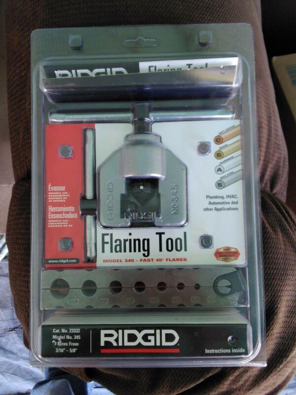 Rigid Flaring Tool Model No. 345 45 degrees Cat. No. 23332 NIB