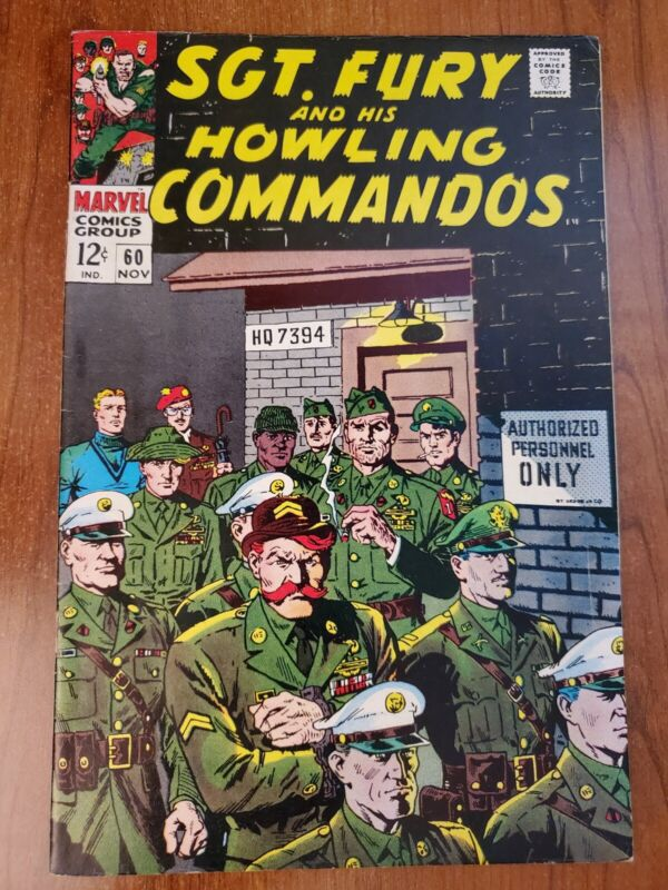 SGT FURY AND HIS HOWLING COMMANDOS # 60 VF/NM