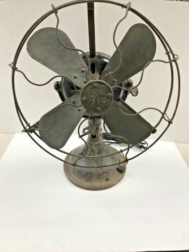 GENERAL ELECTRIC GE FAN BRASS BLADES ALTERNATING CURRENT FAN MOTOR 1901