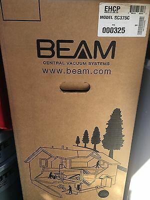 New 375C Beam Central Vacuum& New Beam Q Complete hose and Accessory Kit