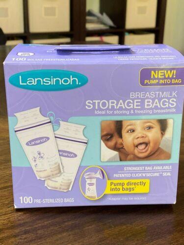 Lansinoh Breastmilk Breast Pump Storage Bags 100 Count