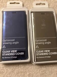 Brand new Samsung s7 edge clear view standing cover half price