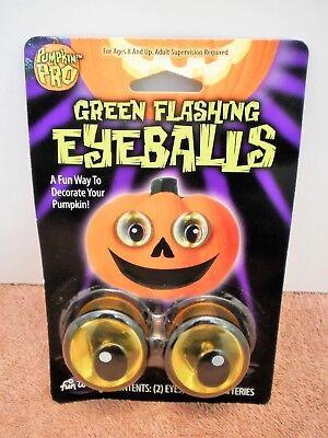 Pumpkin Pro Green Flashing Eyeballs Pumpkin Happy Face Round Eyes - Pumpkin Happy Face