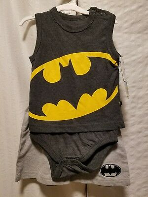 Authentic Batman Brand Body Suit Pants 2-Piece Set Baby Size 12 Months NWT - Authentic Batman Suit