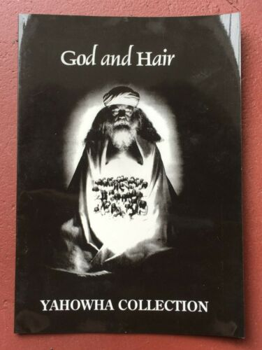 "YAHOWHA God And Hair 7""x10"" original booklet SOURCE FAMILY FATHER YOD Ya Ho Wha"