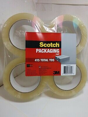 3m Scotch 4 Rolls Packing Tape 415 Yds