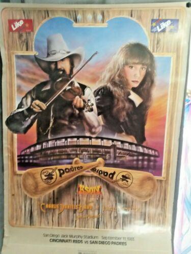 Charlie Daniels Band & Juice Newton Concert Poster San Diego Padres Game KSON