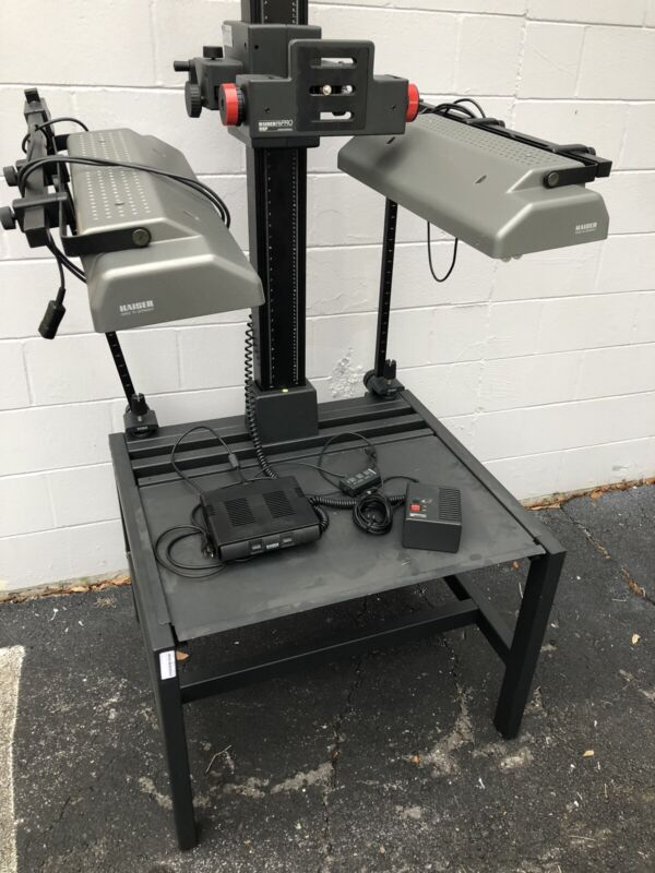 """Kaiser RePRO Copy Stand System 60"""" Motorized Column RSP W Stand And Lights"""