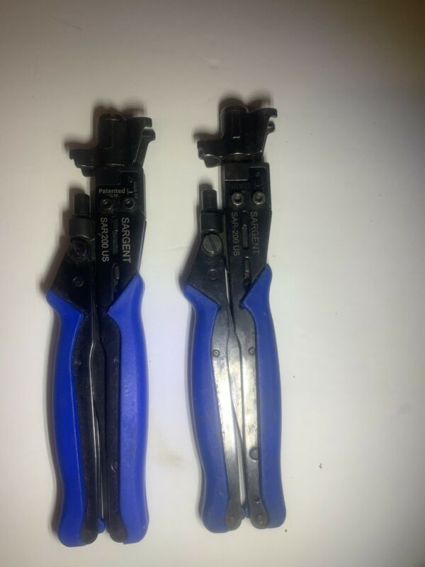 SARGENT Tools SAR-200 US Sar Compression Tool for XL RG6/59 and RG11/7 Lot of 2