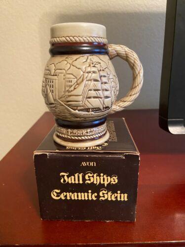 Avon Tall Ships Miniature Ceramic Stein - 1982