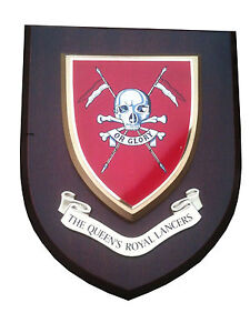 QRL Queens Royal Lancers Military Wall Plaque Hand Made For MOD