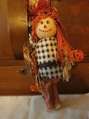 FALL Thanksgiving Straw Scarecrow Wall Mount Halloween Pumpkin - Halloween Decor Usa