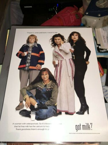 "Tracy Ullman Got Milk? High quality 8""x10"" glossy poster Promo Advertisement"