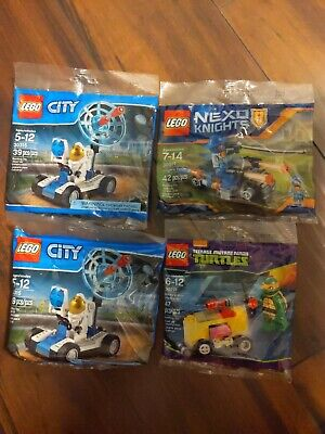 Lego polybag LOT of 4  City Nexo Knights Ninja Turtles 30315 30371 30271