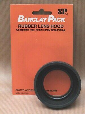 49mm rubber lens hood - made in Japan