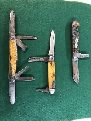 Vintage Knife lot, Wilbert 6 blade congress, Valley forge NJ, unknown