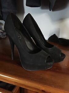 Lipstick black peep toe pumps Maitland Maitland Area Preview