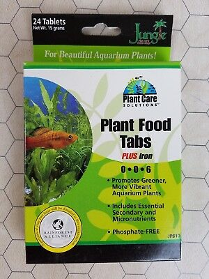 Jungle Laboratories Plant Care Solutions Plant Food Tabs Plus Iron 0-0-6 New