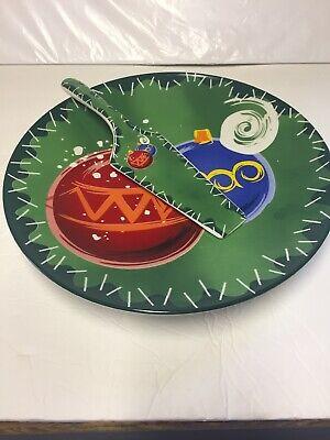 Fiesta Christmas  ~ Serving Platter &  Utensil , Made By