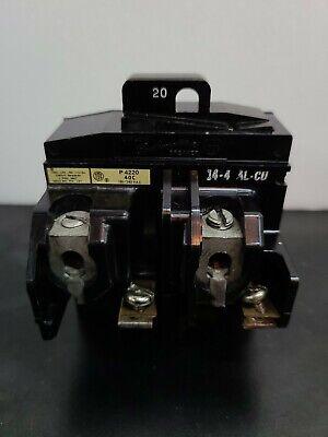 Pushmatic P4220 20 Amp 2 Pole Circuit Breaker Bulldog Ite