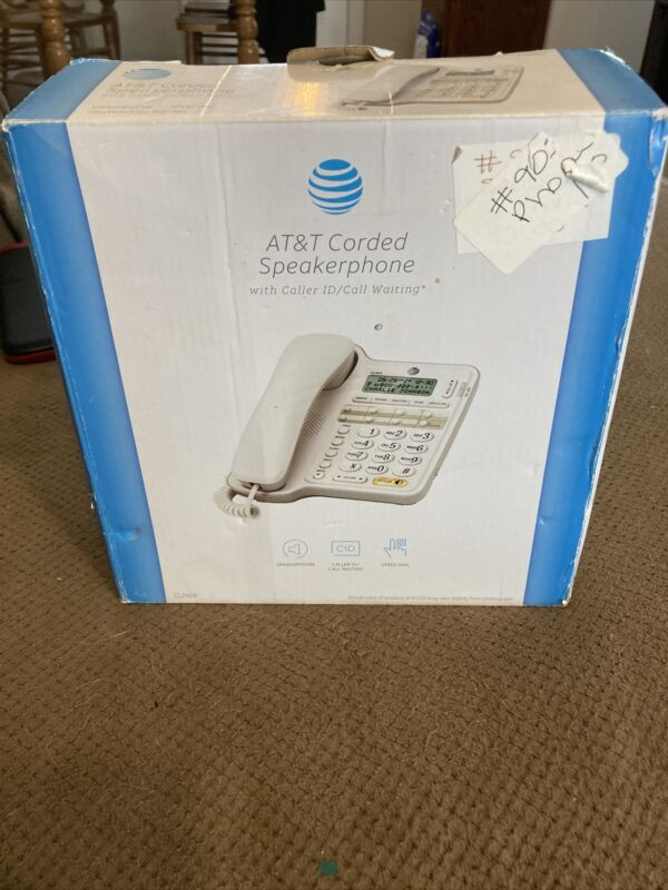 AT&T CL2909 Corded Phone with Speakerphone and Caller ID/Call Waiting White,NEW