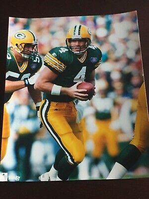 BRETT FAVRE 8x10 Color Photo in Green Bay Packers uniform - Packers Uniforms