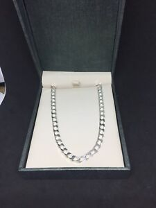 """Mappins/people's sterling silver necklace 11""""long"""