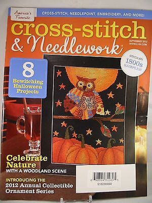 Halloween Cross Stitch Magazine (Cross Stitch & Needlework Magazine September 2012 Halloween Owl Spooky)