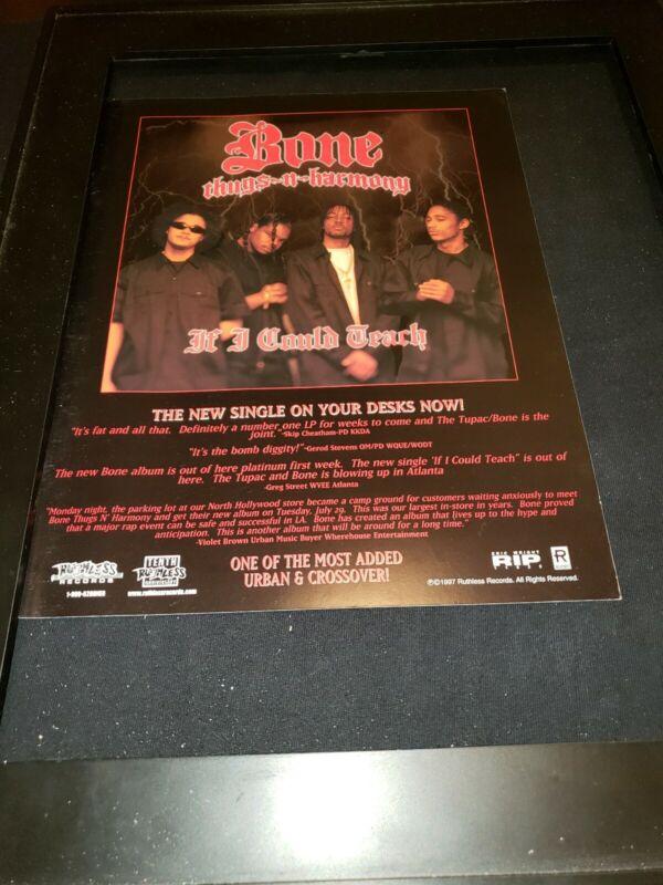 Bone Thugs N Harmony If I Could Teach Rare Original Promo Ad Framed!