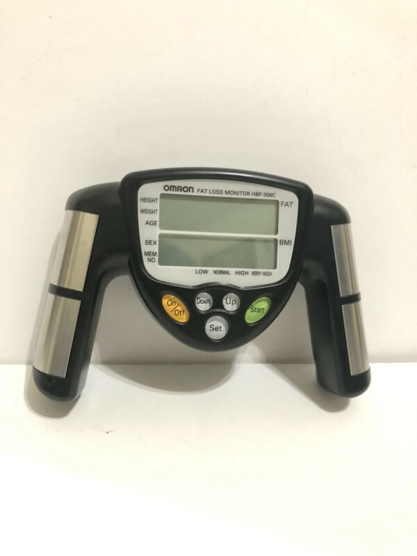 Omron Fat Loss Monitor HBF-306CN BMI Body Fat Loss Monitor W/Batteries Tested
