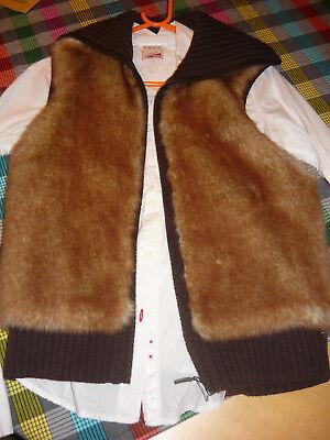 9ef293fb0125bf Fellweste Esprit M strick braun beige Fell Fake Fur Weste Plüsch teddy  89EUR, gebraucht gebraucht