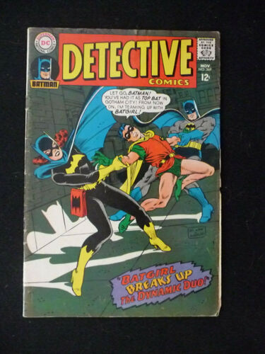 DETECTIVE COMICS BATGIRL BREAKS UP BATMAN ROBIN NOV #369 1967 DC COMICS