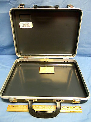 "2 Plastic Carrying Case - Sportcase Plastic/Aluminum Carrying Case w/ Keys I.D. 14-1/2"" x 10-1/2"" x 3"""