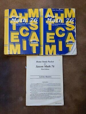 Saxon Math 7/6 Homeschool Kit by Stephen Hake and Saxon
