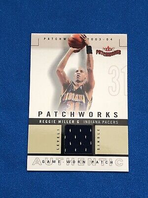 2003-04 Fleer Patchworks Reggie Miller Authentic Game Worn Jersey 177/200 Pacers for sale  Bakersfield