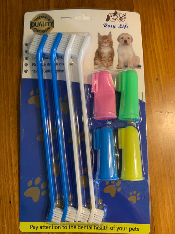 RosyLife Pet Dog Soft Toothbrush Dog Toothbrush Finger Toothbrush pet Toothbrush
