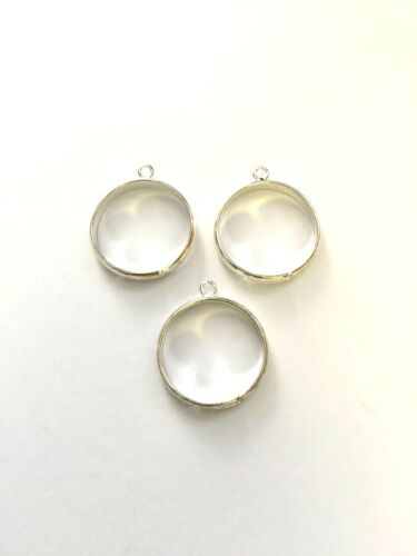 8 Pcs Silver Plated Adjustable Ring With one Loop Ring Making