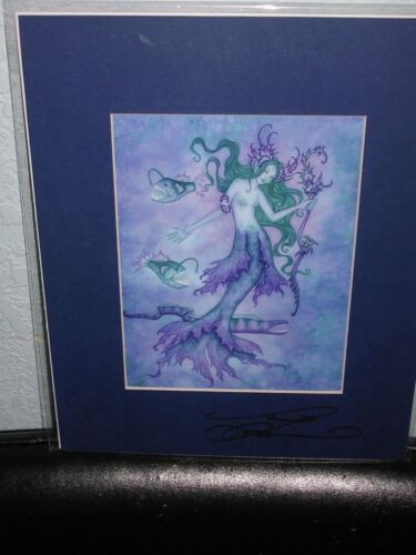 Amy Brown - Sea Witch - Matted  Mini - SIGNED