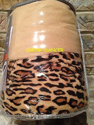 Biddeford Electric Heated Throw Blanket Micro Plush Blanket Throw Leopard