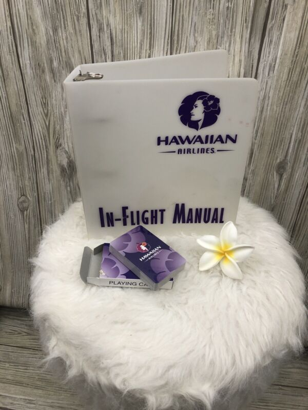 Hawaiian Airlines In-Flight Manual Binder + Playing Cards