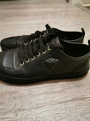 Mens Versace Shoes 100% Genuine Black UK Size 8