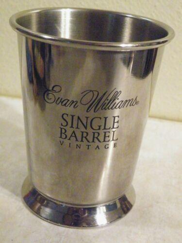 Evan Williams Single Barrel Vintage JULEP CUP Bourbon Whiskey SILVER TONE METAL