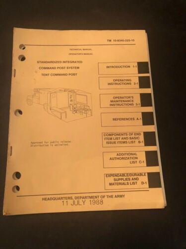 TM 10-8340-225-10, Operators Guide Standardized Command Post, Tent Command Post