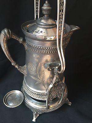 RARE ANTIQUE WILCOX QUADRUPLE PLATE SILVER TILTING WATER PITCHER 5142 B.C.