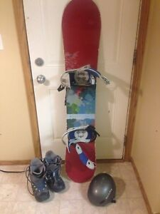 Burton Snowboard with boots and Helmet $150 or OBO