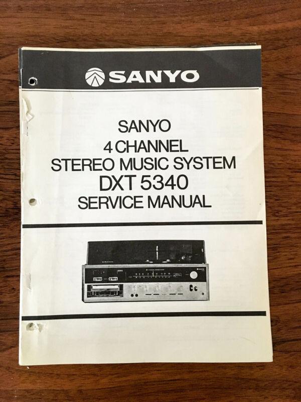 Sanyo DXT 5340 Stereo Service Manual *Original*
