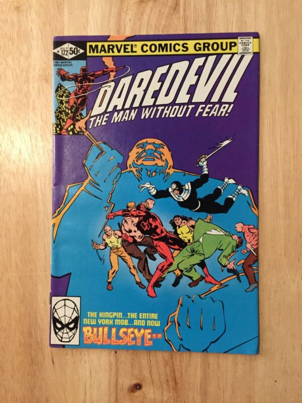 DAREDEVIL #172 ~ 1981 ~ KINGPIN, BULLSEYE COVER & APPEARANCE ~ FRANK MILLER