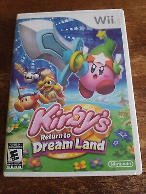 Nintendo Wii KIRBY'S RETURN TO DREAMLAND Complete w/ Case Manuals Inserts*Tested