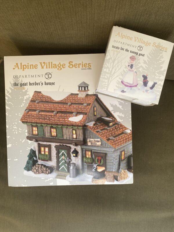 Dept 56 Alpine Village THE GOAT HERDER