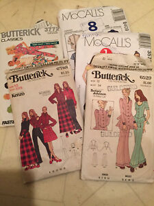 Vintage sewing patterns